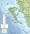 Korfu mapa 4