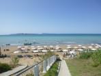 Pláž Agios Stefanos Avliotes (západ) - ostrov Korfu foto 3