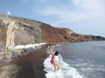 Pláž Kaminia - ostrov Santorini foto 2