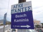 Pláž Kaminia - ostrov Santorini foto 4