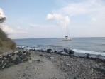 Pláž Kambia - ostrov Santorini foto 2