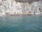 Pláž White Beach - ostrov Santorini foto 8