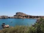 Pláž Agios Pavlos (Lindos - Saint Paul Bay) - ostrov Rhodos foto 3