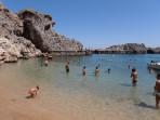 Pláž Agios Pavlos (Lindos - Saint Paul Bay) - ostrov Rhodos foto 5