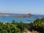 Pláž Megali Paralia (Lindos) - ostrov Rhodos foto 15
