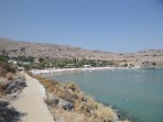 Pláž Megali Paralia (Lindos) - ostrov Rhodos foto 8