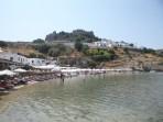 Pláž Megali Paralia (Lindos) - ostrov Rhodos foto 10