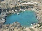 Pláž Agios Pavlos (Lindos - Saint Paul Bay) - ostrov Rhodos foto 20