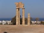 Monte Smith s pozůstatky antického chrámu