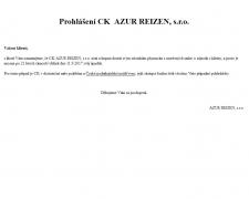Úpadek CK Azur Reizen a Maxi Reisen